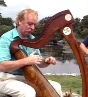 Brian Warfield Playing Harp