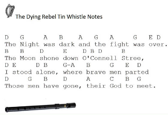 The Dying Rebel Tin Whistle Music