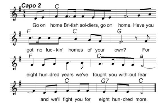 Go On Home British Soldiers Sheet Music