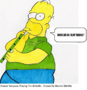 Homer Simpson Playing The Whistle