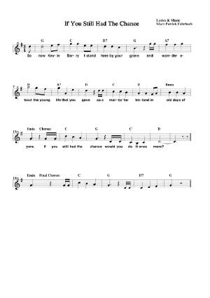 If You Still Had The Chance Sheet Music