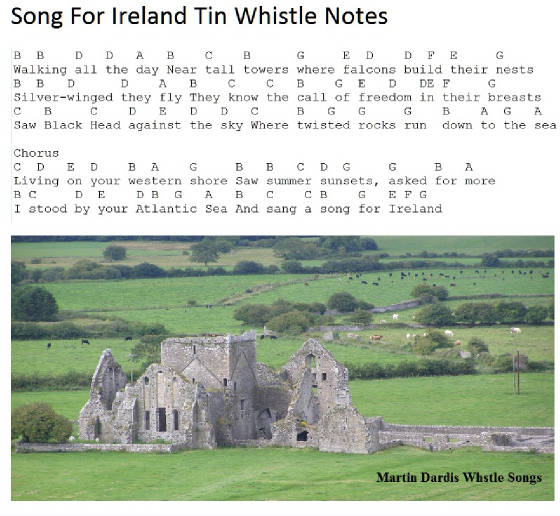 A Song For Ireland Tin Whistle Music