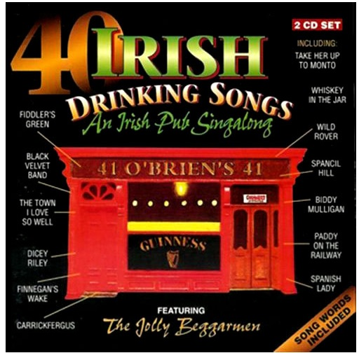 40 Irish Drinking Songs By The Jolly Beggarmen