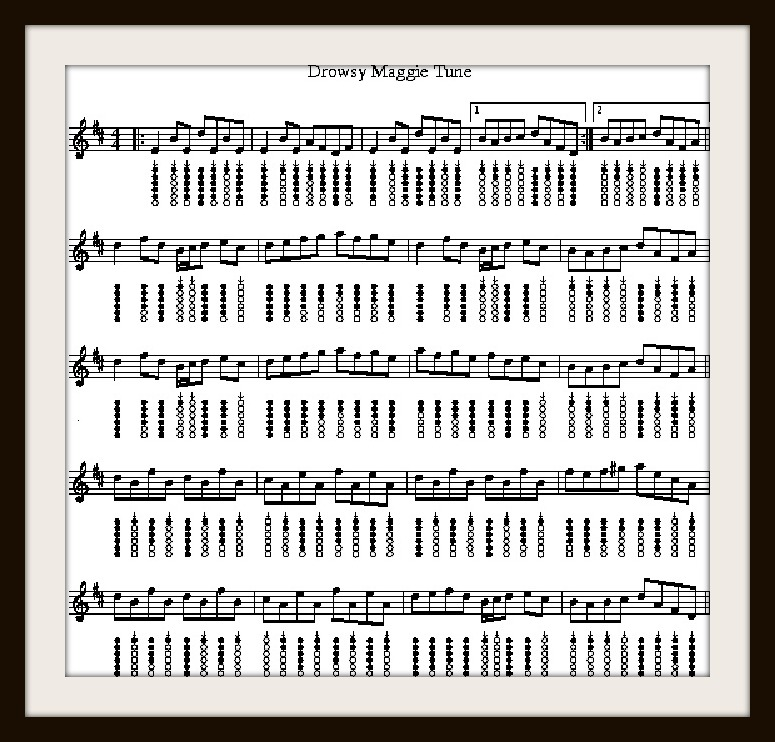 Drowsy Maggy Tune For Tin Whistle