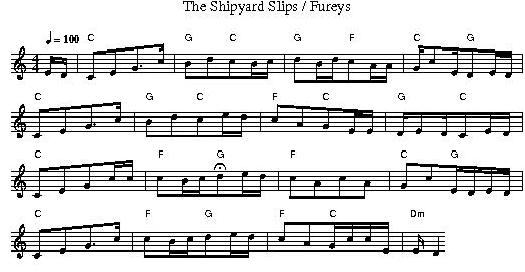 fureys sheet music shipyard slips