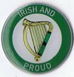 Irish Harp Badge