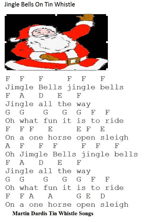 Jingle Bells Christmas Tin Whistle Music