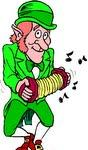 leprechaun playing Music
