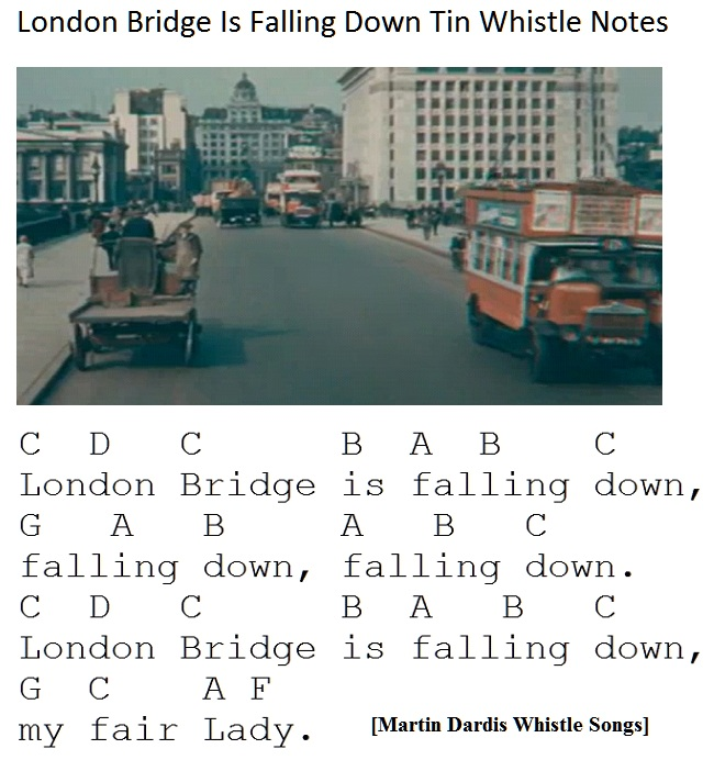 London Bridge Is Falling Down Tin Whistle Music