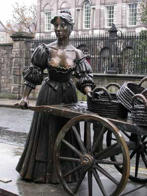 Molly Malone at Grafton Street Dublin