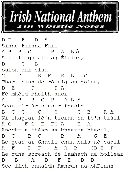 The National Anthem Of The Republic Ireland - A Soldiers ...