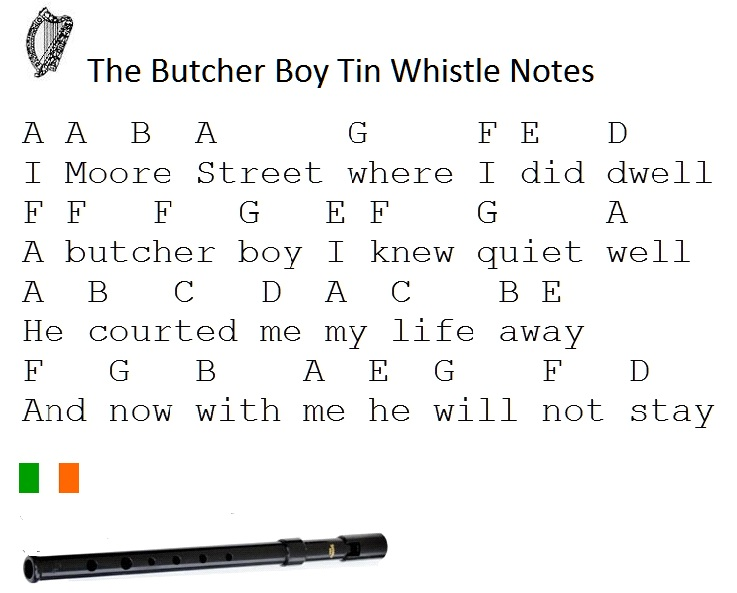 Letter Notes On Whistle The Butcher Boy